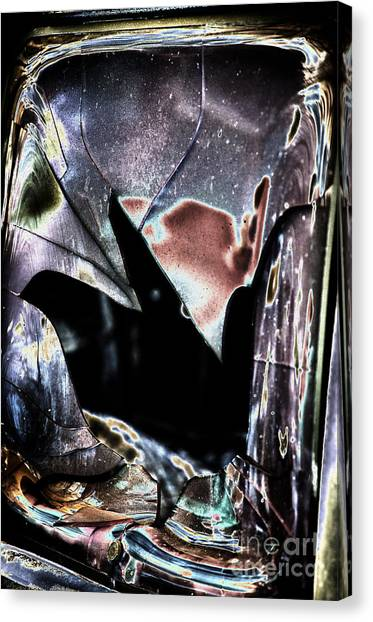 Bastrop Burning Broken Glass 1 Canvas Print