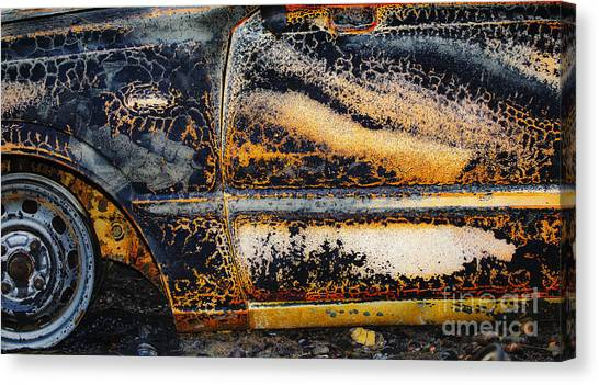 Bastrop Burning Vehicle 1 Canvas Print