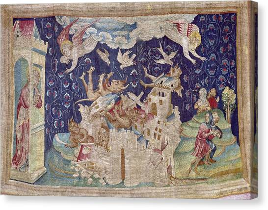 Fabric Of Society Canvas Print - Bataille, Nicolas 14th C.. The Fall by Everett