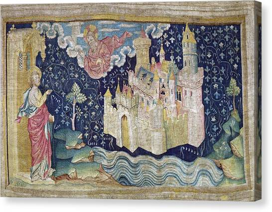 Fabric Of Society Canvas Print - Bataille, Nicolas 14th C.. The New by Everett