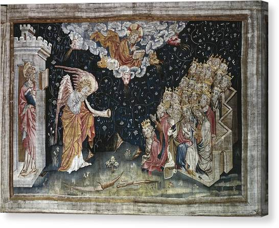 Fabric Of Society Canvas Print - Bataille, Nicolas 14th C.. The Seventh by Everett