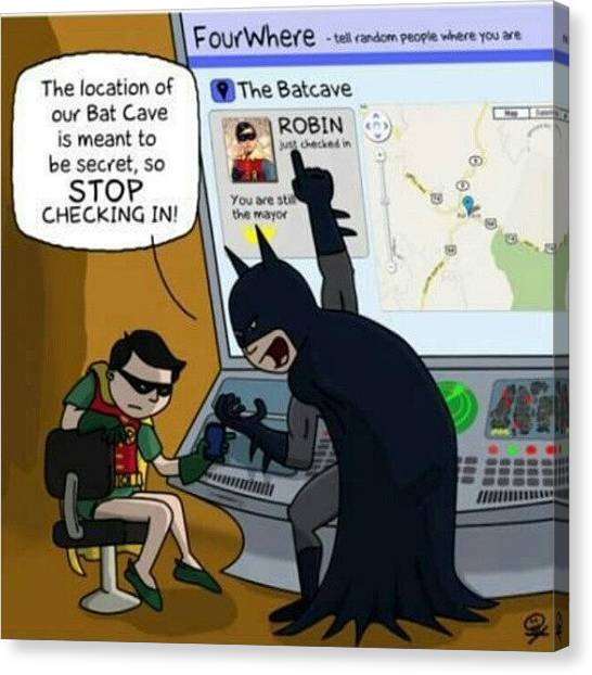 Robins Canvas Print - #batcave #batman #robin #topsecret by Justme MsB