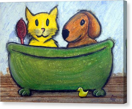 Bath Friends Canvas Print