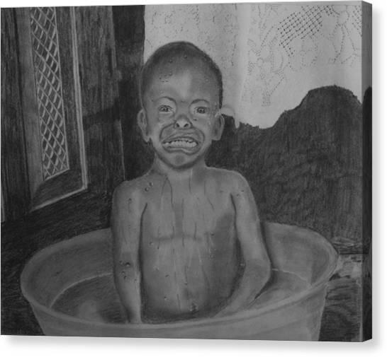 Bath-time Tears Canvas Print