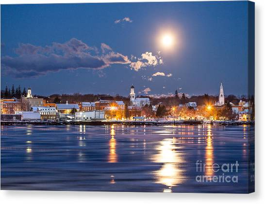 Bathed In Moonlight Canvas Print