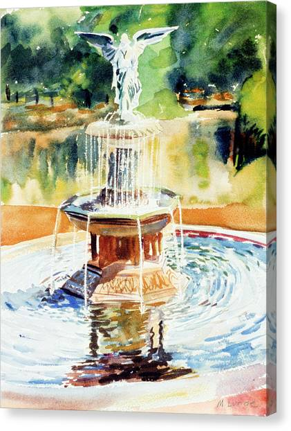 Bathesda Fountain Canvas Print