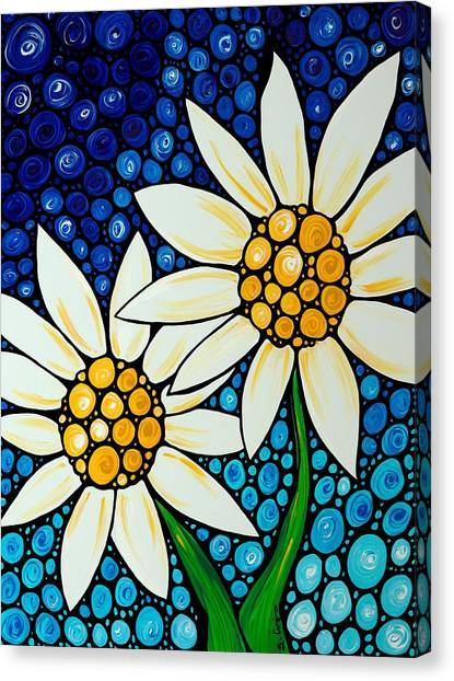 Daisy Canvas Print - Bathing Beauties - Daisy Art By Sharon Cummings by Sharon Cummings