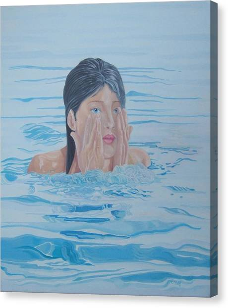 Canvas Print - Bathing Belle by Michael McEvoy