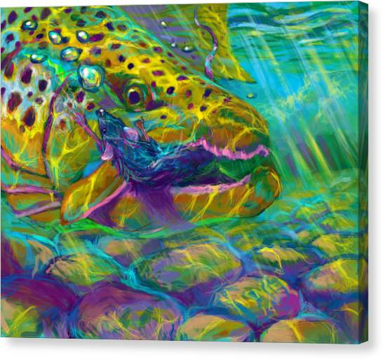Arte Canvas Print - Bathing The Mouse  by Yusniel Santos