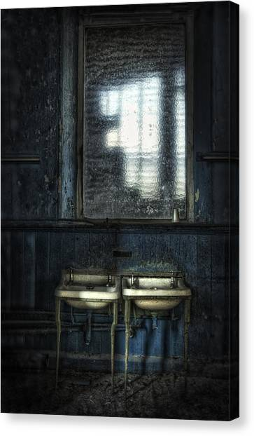 Bathroom Blues Canvas Print