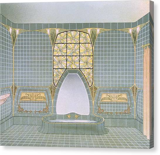 Tile Canvas Print - Bathroom Interior Designed By Henri by .