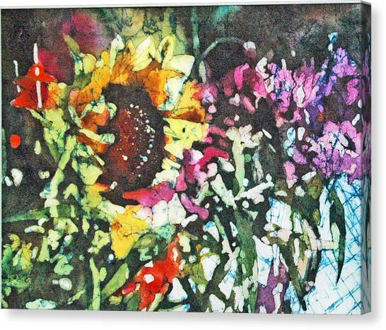 Batik Sunflower 1 Canvas Print