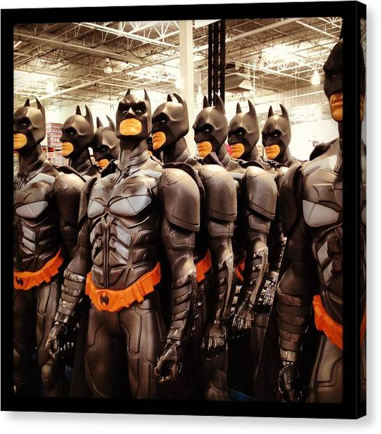Warehouses Canvas Print - Batman Army by Eugene Evon