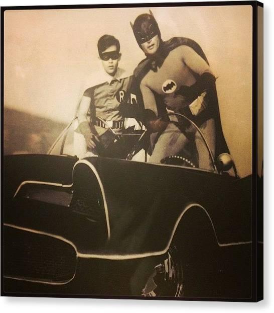 Bat Canvas Print - Batman And Robin  by Oscar Lopez