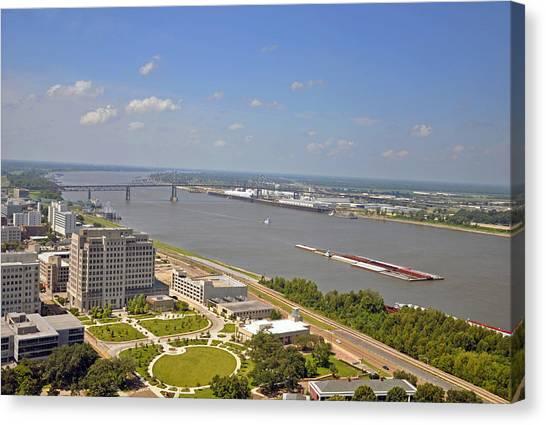 Baton Rouge's Mississippi River Canvas Print