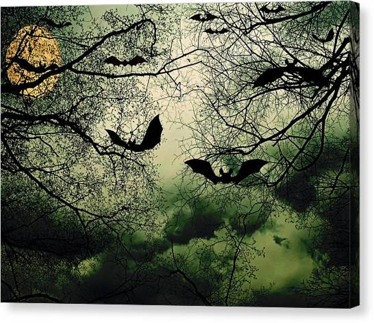 Bats From Hell Canvas Print