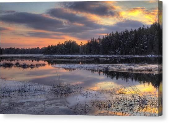 Batsto Lake Sunset 2 Canvas Print