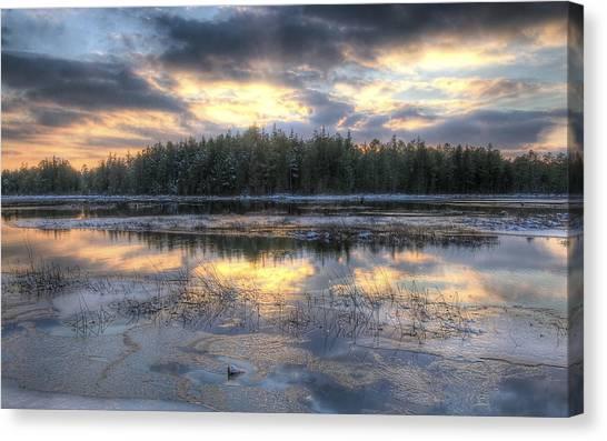 Batsto Lake Sunset1 Canvas Print