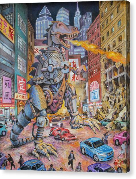 Batteries Not Included Canvas Print by Henry David Potwin