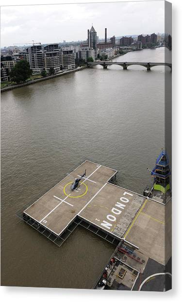 Pontoon Canvas Print - Battersea Heliport by Aviation Images / Science Photo Library