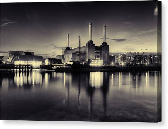 Pink Floyd Canvas Print - Battersea Power Station by Ian Hufton