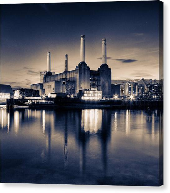 Pink Floyd Canvas Print - Battersea Power Station London by Ian Hufton