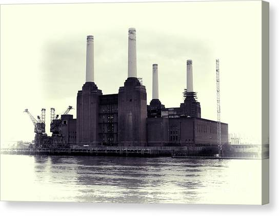 Battersea Power Station Vintage Canvas Print