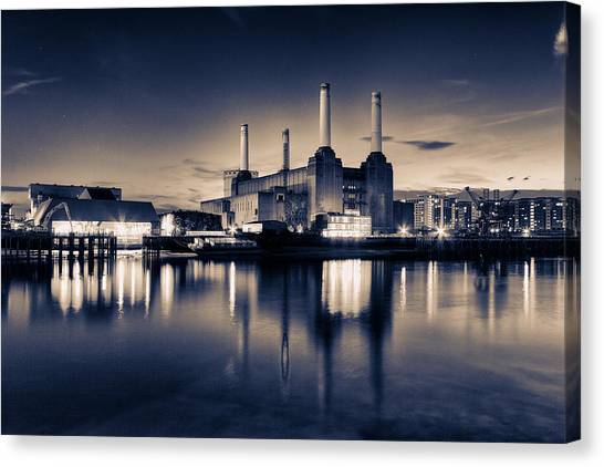 Pink Floyd Canvas Print - Battersea Toned by Ian Hufton