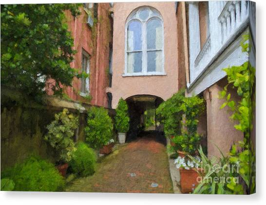 Battery Carriage House Inn Alley Canvas Print