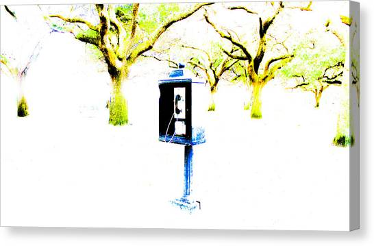 Battery Payphone Canvas Print by Philip Zion