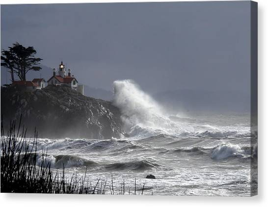 Battery Point Storm Canvas Print