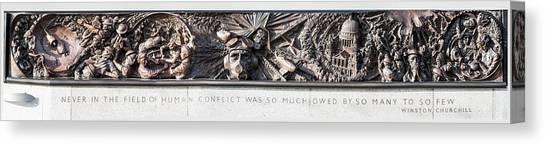 Battle Of Britain Monument London Canvas Print