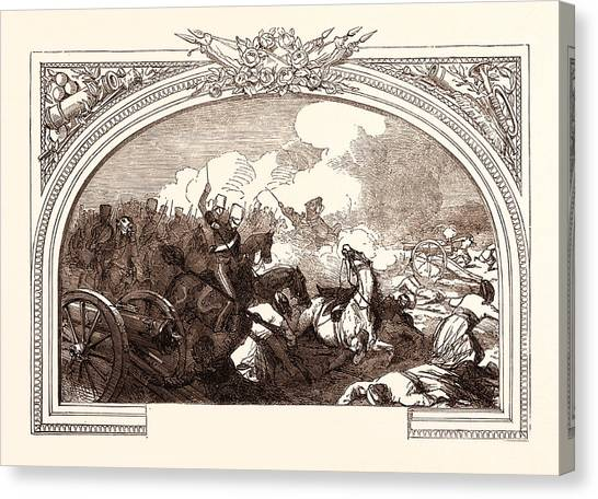 Sikh Art Canvas Print - Battle Of Ferozeshah, Lord Gough, December 21st by English School