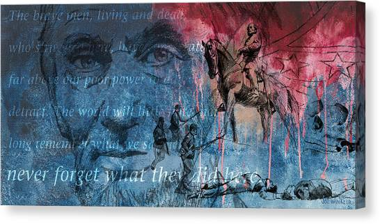 Battle Of Gettysburg Tribute Day Three Canvas Print