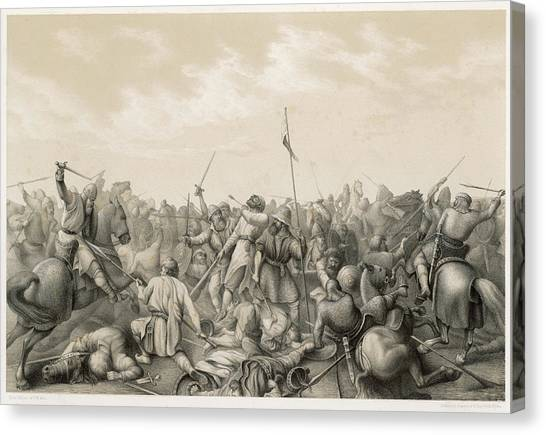 Stamford Bridge Canvas Print - Battle Of Stamford Bridge Harald by Mary Evans Picture Library