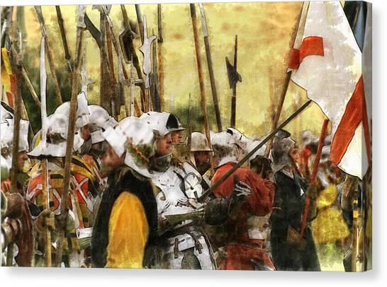 Battle Of Tewkesbury Canvas Print