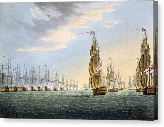 The Nile Canvas Print - Battle Of The Nile by Thomas Whitcombe