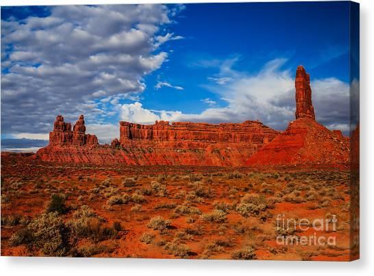 Sandy Desert Canvas Print - Battleship Rock by Robert Bales