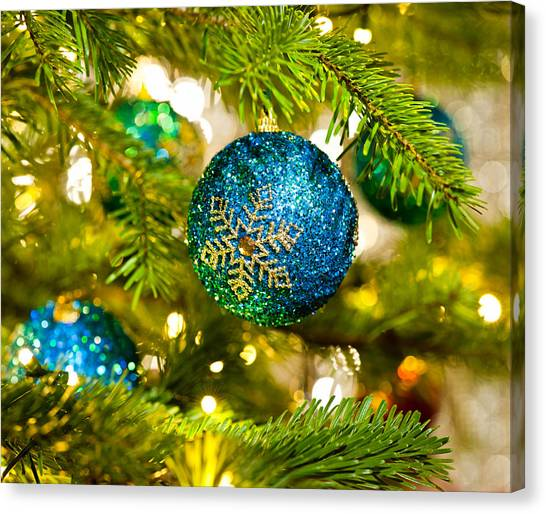 Bauble In A Christmas Tree  Canvas Print