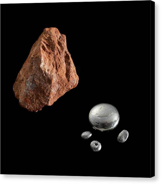 Principals Canvas Print - Bauxite And Aluminium by Science Photo Library