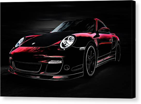 Porsche Canvas Print - Bavarian Ghost by Douglas Pittman