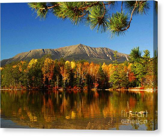Baxter Fall Reflections  Canvas Print