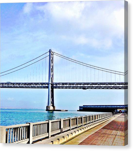 Landmarks Canvas Print - Bay Bridge by Julie Gebhardt