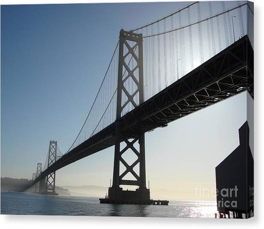 Bay Bridge Morning Canvas Print by Mark Etchason