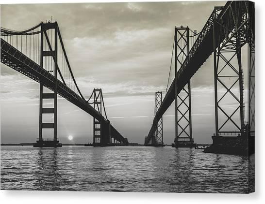 Bay Bridge Strong Canvas Print