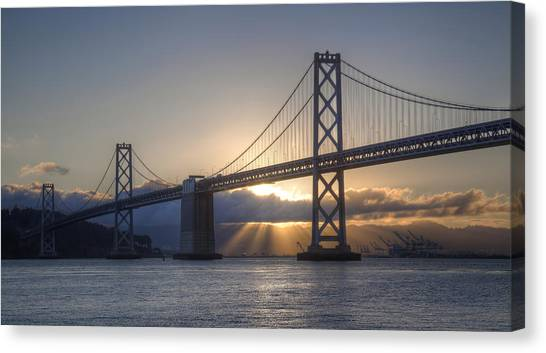 Bay Bridge Sunrise Canvas Print