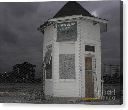 Bay City American Hoist Guard House Canvas Print