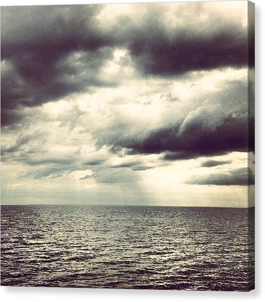 Bayous Canvas Print - #bay #clouds #horizon #bayou #waves by Kobee King