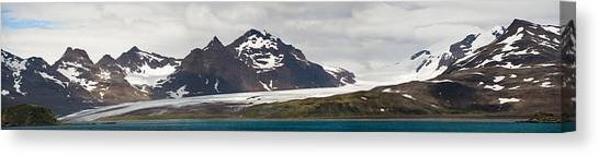 Glacier Bay Canvas Print - Bay In Front Of Snow Covered Mountains by Panoramic Images