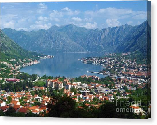 Bay Of Kotor - Montenegro Canvas Print